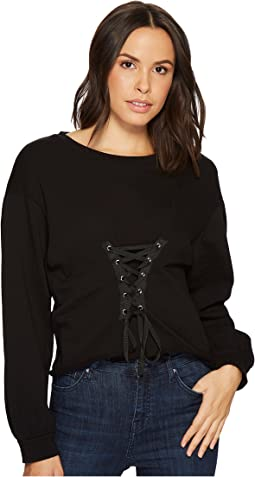 Blank NYC - Long Sleeve Shirt with Lacing Detail in Laced and Tied