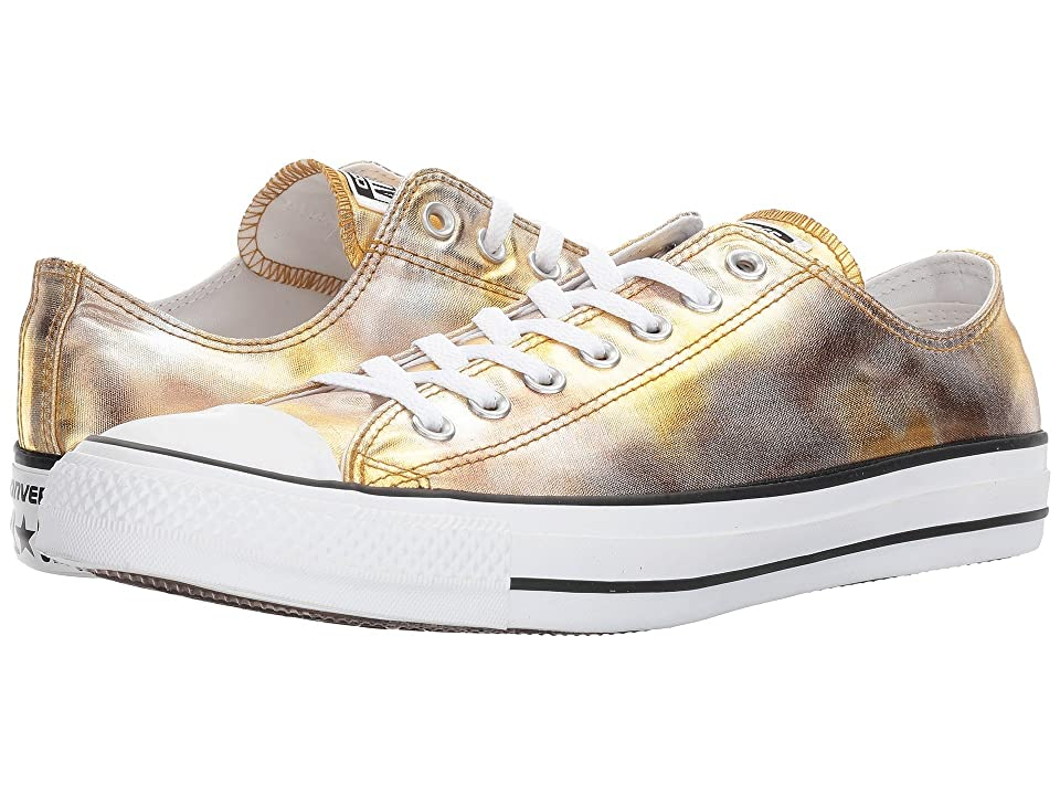 Converse Chuck Taylor All Star Washed Metallic Canvas Ox (Silver/Gold/Black/White) Lace up casual Shoes