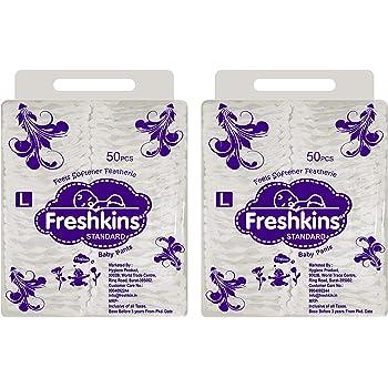 Freshkins Standard Diaper Pant Large - (Pack of 2, 100 Unit)