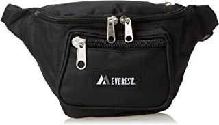 Everest Signature - Riñonera (tamaño mediano), Negro, Una talla