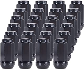 Orion Motor Tech 24-Piece M14x1.5 Lug Nuts Black with Hex Tuner, 1.75 inches Length with Cone Seat, Compatible with Chevy GMC Ford Cadillac Lincoln SAAB Saturn Silverado 1500 Savana 1500 F150 Exped
