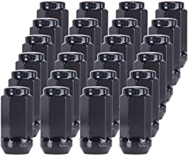 GAsupply Black Lug Nuts 14X1.5 24 Pack Close End Bulge Acorn Lug Nuts 3//4 inch Hex 1.9inch Tall Conical Seat Compatible with Ford Chevy Lincoln GMC Cadillac
