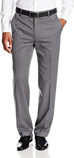 Haggar Mens HY70131 Gabardine Straight Fit Flat Front Suit Separate Pant Suit Pants Separate - Gray