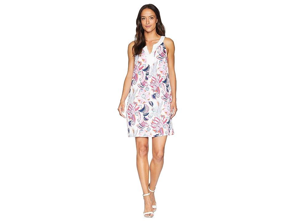 Tommy Bahama Bohemian Blossoms Shift Dress (White) Women