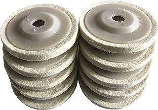 GooM 10pcs 4'' 100mm Wool Polishing Buffing Wheel Pad Bore, Round Polishing Wheel Felt Buffer Disc Tool