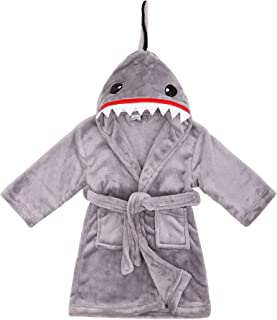 Image of Animal Grey Shark Robe for Boys with Hood