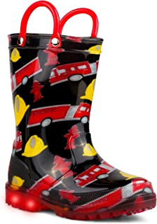 lilly Girls' Light-Up Rubber Rain Boots
