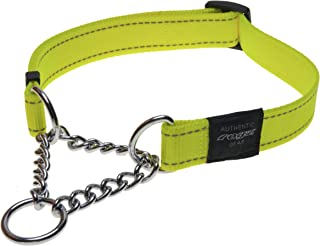 ROGZ Utility Medium 5/8-Inch Reflective Snake Obedience Half-Check Dog Collar