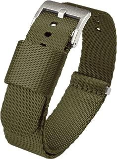 Barton Jetson NATO Style Watch Strap - 18mm, 20mm, 22mm or 24mm - Seat Belt Nylon Watch Bands