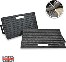 Rubber Curb Ramp 2 PC | Heavy Duty Portable Threshold Ramp for Cars, Wheelchairs, Scooter, Bike, Skateboard, Motorcycle, Trucks, Commercial Vehicles, Disabled Chair & Pet Mobility