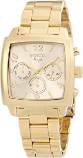 Invicta Women's 12101 Angel Gold Dial 18k Gold Ion-Plated Stainless Steel Watch
