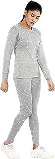 Shocknshop Grey Printed Heart Tee & Pants Tracksuit Set for Women (WPAJA02)