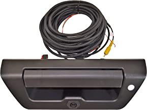 PT Auto Warehouse FO-3515A-TGCX - Tailgate Handle with Backup Camera, Textured Black Housing and Lever - with LED Light Hole, for Manual Tailgate