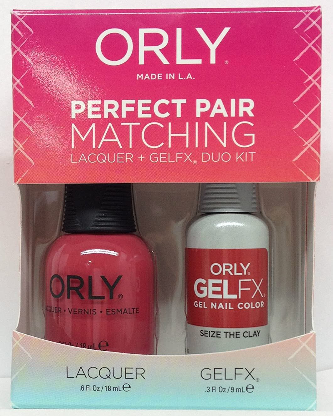 全能橋メイドOrly - Perfect Pair Matching Lacquer + GelFX Kit - Seize the Clay - 0.6 oz/0.3 oz