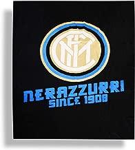 CALDO PLAID ARREDO MICRO PILE PELUCHES Juventus Inter Milan Roma COPERTA ORIGINALE cm 120 x 150 (Inter)