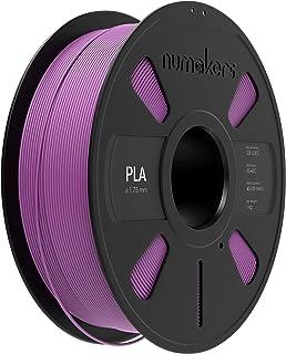 NUMAKERS PLA 3D Printer Filament, 1.75mm, Dimensional Accuracy +/- 0.03 mm, 1 kg Spool (2.2 lbs), Compatible with Most FDM...