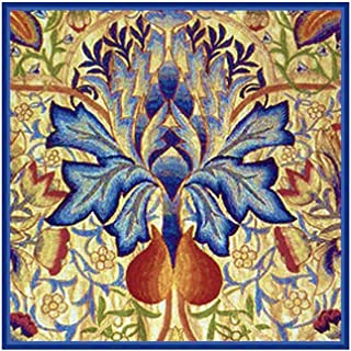 Blue Thistle by William Morris Counted Cross Stitch Pattern