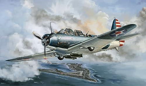 1 48 WWII Douglas TBD-1 Devastator VT-6 Wake Island 1942 (L4809) (japan import)