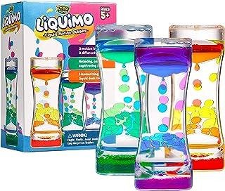 YoYa Toys Liquimo - حباب حرکتی مایع برای کودکان و بزرگسالان - 3-بسته - حباب مایع Hourglass / تایمر برای بازی حسی ، اسباب بازی Fidget و مدیریت استرس - دکوراسیون رومیزی جالب