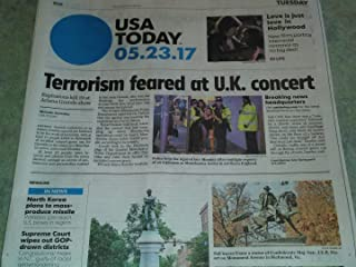 Ariana Grande Concert Terrorist Attack In Manchester, England - May 23, 2017 USA Today Newspaper
