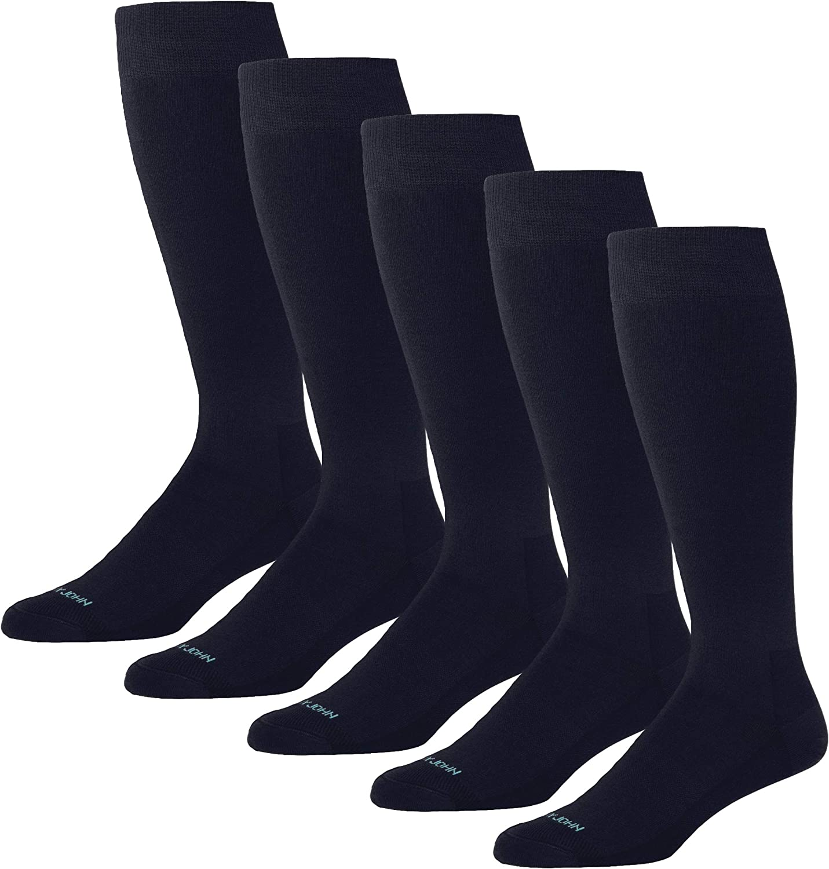 Tommy John Men's Stay-Up Dress Socks - 5 Pack - Soft Breathable Socks for Men