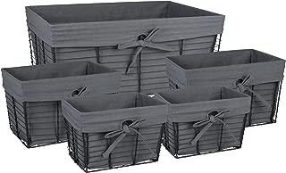 Best 5 drawer wire storage basket Reviews