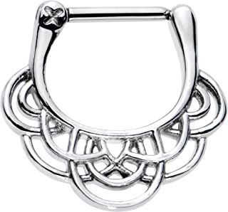 Body Candy Stainless Steel Simple Style Swirl Septum Clicker 16 Gauge 5/16