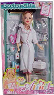 "GCI 11"" White and Pink Fashion Diva Doctor Play Doll with Accessories"