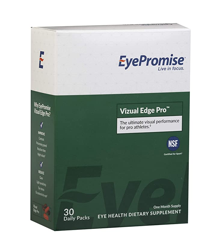 Eyepromise Vizual Edge Pro - 1 Month Supply | Performance Eye Vitamin with Zeaxanthin, Lutein, Omega-3 Fish Oil & Vitamin D