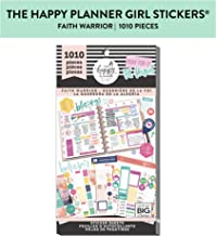 me & my BIG ideas Sticker Value Pack - The Happy Planner Scrapbooking Supplies - Faith Warrior Theme - Multi-Color & Gold Foil - Great for Projects & Albums - 30 Sheets, 1010 Stickers Total