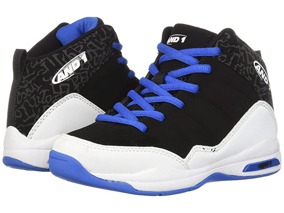 AND1 Kids Breakout (Little Kid/Big Kid) (Black/Skydiver/White) Boys Shoes