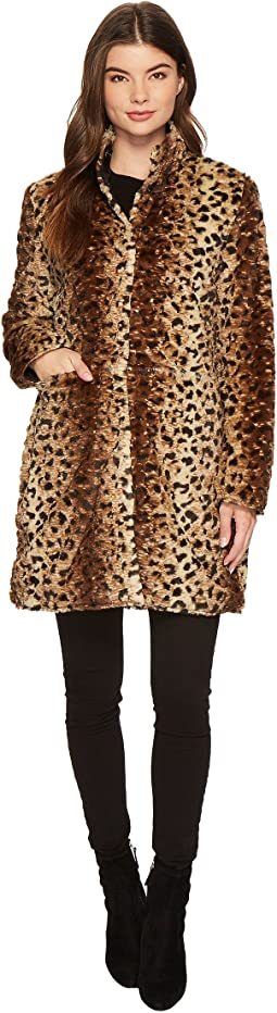 Reversible Nylon Faux Leopard