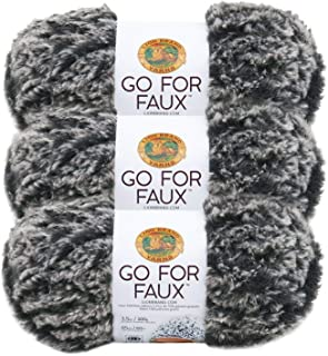 Pack of 3 Skeins Lion Brand Yarn 322-212 Go for Faux Yarn Violet Starling