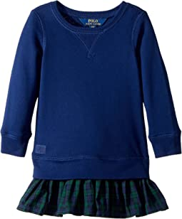 Polo Ralph Lauren Kids - Ruffled-Hem Fleece Dress (Toddler)