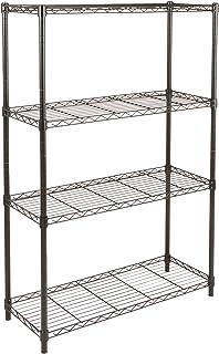 AmazonBasics 4-Shelf Shelving Unit - Black