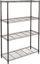 AmazonBasics 4-Shelf Shelving Storage Unit, Metal Organizer Wire Rack, Black