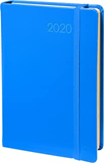 Quo Vadis Habana Prestige Weekly Business Diary with Elastic Holder, 10 x 15 cm, Blue, Year 2018 [English Not Guaranteed]