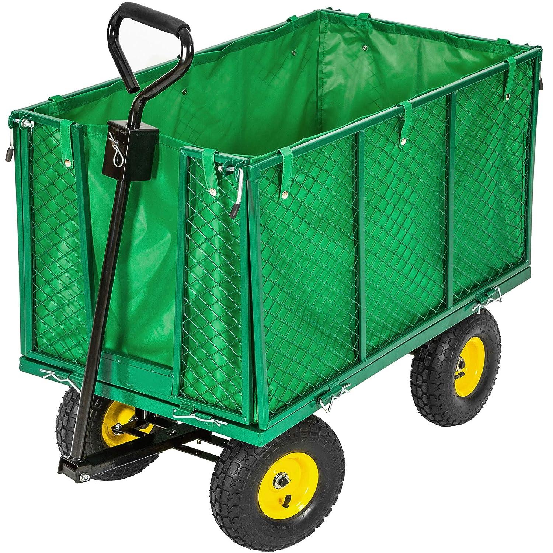 Photo de remorque-chariot-de-jardin-tectake-charge-max-544kg