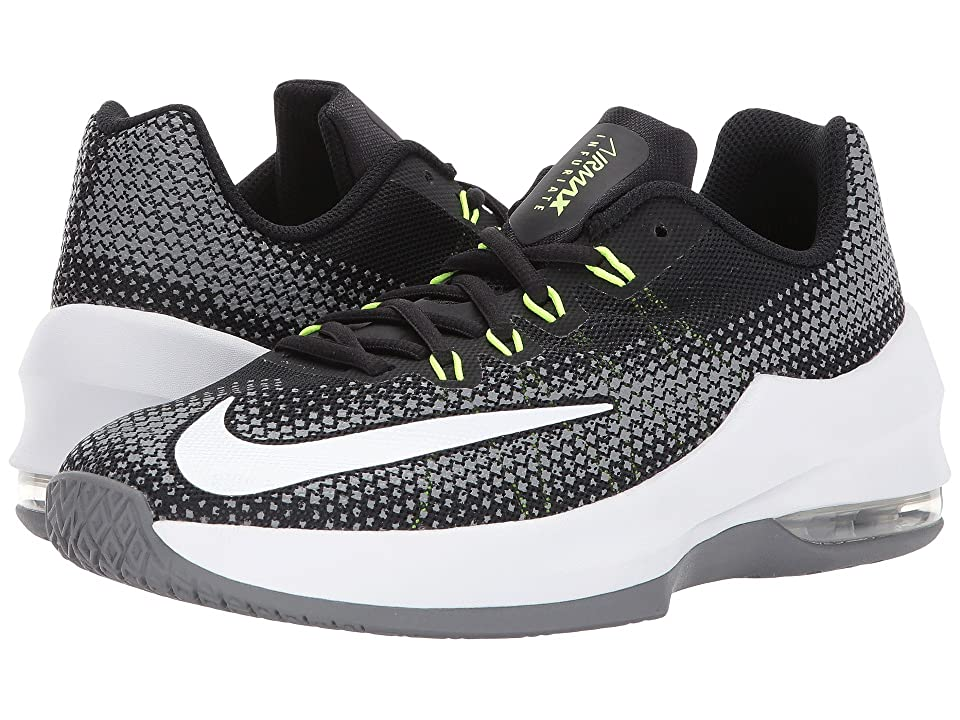 Nike Kids Air Max Infuriate Basketball (Big Kid) (Black/White/Volt/Cool Grey) Boys Shoes