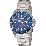 Men's Pro Diver Quartz Diving Watch with Stainless-Steel Strap, Silver, 22 (Model: 22019)
