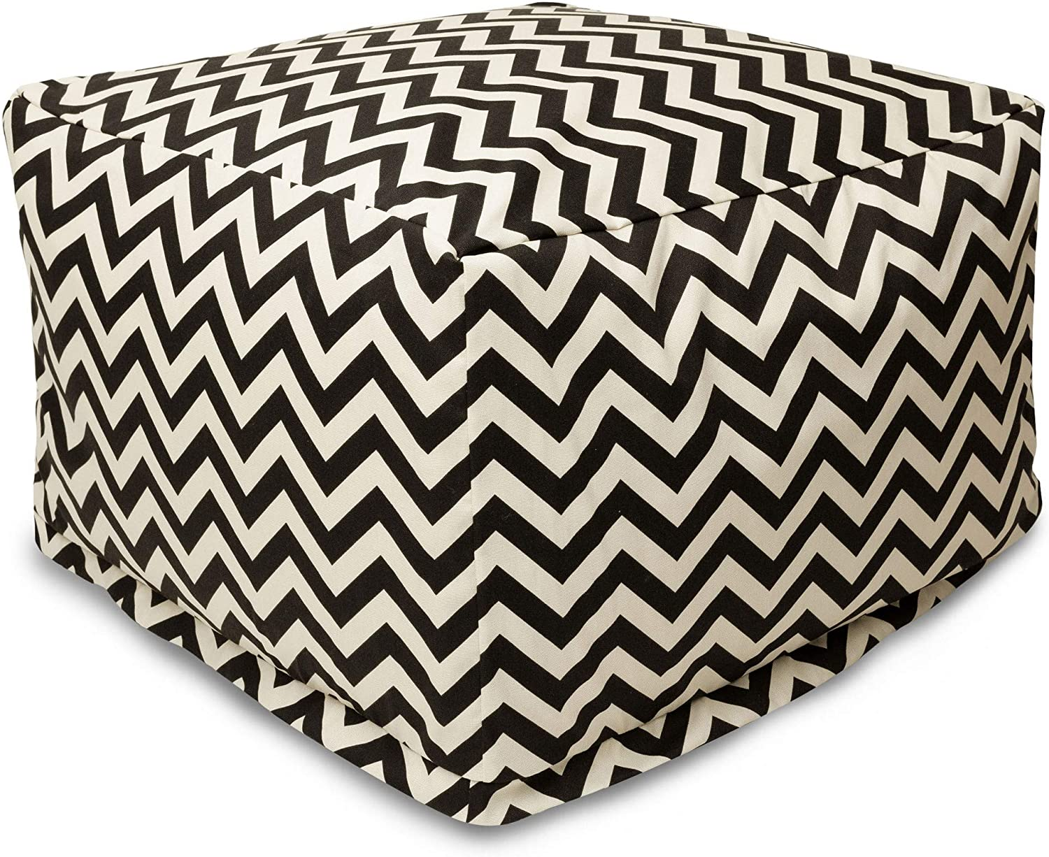 Majestic Max 42% OFF Home Selling and selling Goods Black Zig Zag Large Ottoman