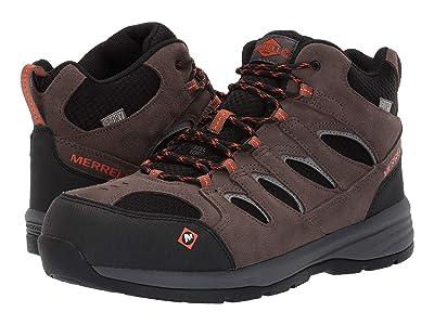 Merrell Work Windoc Mid Waterproof Steel Toe (Boulder) Men