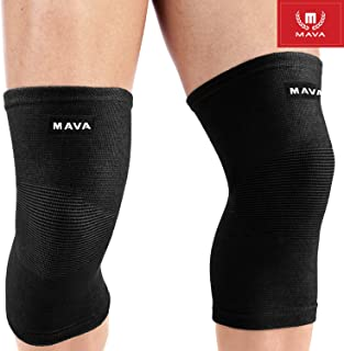 Mava Sports Knee Support Sleeves (Pair) for Joint Pain & Arthritis Relief, Improved..