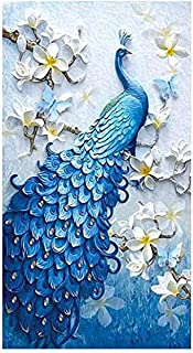 Suprcrne Diamond Painting Kits For Adults Kids,5D Peacock Diamond Painting DIY Paint By Diamond Kit Craft Home Wall Decor ...