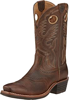 Men's Heritage Roughstock Western Boot, Brown Oiled Rowdy