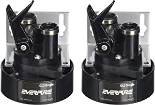 Everpure EV9259-14 QL3 Single Filter Head with Bracket, Shut-Off Valve, and 3/8 inch NPT Threads (Pack of 2)