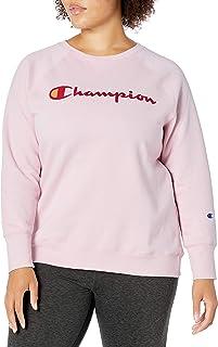 Champion Women's Plus Size Crewneck, Hush Pink, 1X