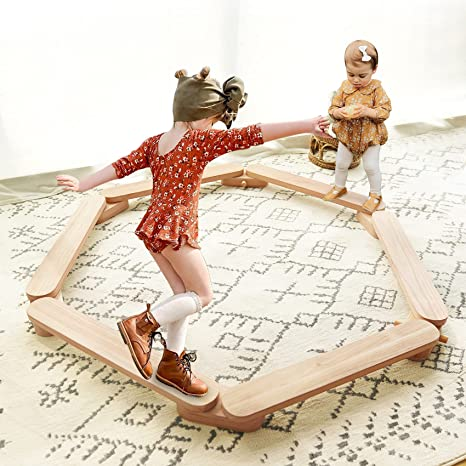 Balance Beam Stepping Stones Gymnastics Obstacle Course Balance Board Kids, Montessori Toy, Montessori Furniture, Montessori Wooden Furniture, Toddler Gift, Wooden Balance Beam, Gymnastic Beam