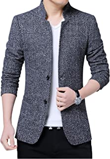 Jueshanzj Men's Slim Fit Suit Jacket with Two Button