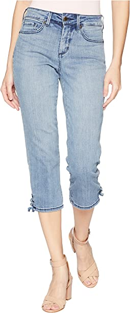 Capris with Lace-Up Hem in Point Dume
